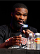 LAS VEGAS, NV - NOVEMBER 14: Tyron Woodley interacts with media during the final UFC 167 pre-fight press conference inside the Hollywood Theatre at the MGM Grand Hotel/Casino on November 14, 2013 in Las Vegas, Nevada. (Photo by Josh Hedges/Zuffa LLC/Zuffa LLC via Getty Images)