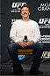 LAS VEGAS, NEVADA - NOVEMBER 15:  UFC legend Dan Severn interacts with fans during a Q&A session before the UFC 167 weigh-in event at the MGM Grand Garden Arena on November 15, 2013 in Las Vegas, Nevada. (Photo by Jeff Bottari/Zuffa LLC/Zuffa LLC via Getty Images)
