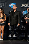 LAS VEGAS, NEVADA - NOVEMBER 15:  UFC Octagon announcer Bruce Buffer stands on stage during the UFC 167 weigh-in event at the MGM Grand Garden Arena on November 15, 2013 in Las Vegas, Nevada. (Photo by Jeff Bottari/Zuffa LLC/Zuffa LLC via Getty Images)