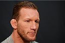 LAS VEGAS, NV - NOVEMBER 27:  Gray Maynard interacts with media during media day ahead of The Ultimate Fighter season 18 live finale inside the Mandalay Bay Events Center on November 27, 2013 in Las Vegas, Nevada. (Photo by Josh Hedges/Zuffa LLC/Zuffa LLC via Getty Images)