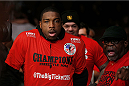 LAS VEGAS, NV - NOVEMBER 30:  Walt Harris walks into the arena before his fight against Jared Rosholt in their heavyweight fight during The Ultimate Fighter season 18 live finale inside the Mandalay Bay Events Center on November 30, 2013 in Las Vegas, Nevada. (Photo by Josh Hedges/Zuffa LLC/Zuffa LLC via Getty Images) *** Local Caption *** Walt Harris