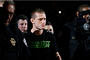 LAS VEGAS, NV - NOVEMBER 30:  David Grant enters the arena before his fight against Chris Holdsworth in their bantamweight final fight during The Ultimate Fighter season 18 live finale inside the Mandalay Bay Events Center on November 30, 2013 in Las Vegas, Nevada. (Photo by Josh Hedges/Zuffa LLC/Zuffa LLC via Getty Images) *** Local Caption *** David Grant