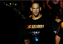 BRISBANE, AUSTRALIA - DECEMBER 07:  James Te Huna enters the arena before his light heavyweight fight against Mauricio