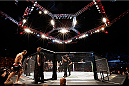 BRISBANE, AUSTRALIA - DECEMBER 07:  A general view of the Octagon as Mauricio