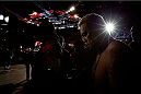 BRISBANE, AUSTRALIA - DECEMBER 07:  Mark Hunt enters the arena before his heavyweight fight against Antonio