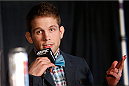 SACRAMENTO, CA - DECEMBER 12:  Nik Lentz interacts with media during the final pre-fight press conference before the UFC on FOX event at Sleep Train Arena on December 12, 2013 in Sacramento, California. (Photo by Josh Hedges/Zuffa LLC/Zuffa LLC via Getty Images)
