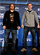 SACRAMENTO, CA - DECEMBER 12:  (L-R) Opponents Urijah Faber and Michael McDonald pose for photos during the final pre-fight press conference before the UFC on FOX event at Sleep Train Arena on December 12, 2013 in Sacramento, California. (Photo by Josh Hedges/Zuffa LLC/Zuffa LLC via Getty Images)