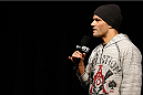 SACRAMENTO, CA - DECEMBER 13:  UFC lightweight contender Josh Thomson interacts with fans during a Q&A session before the UFC on FOX weigh-in at Sleep Train Arena on December 13, 2013 in Sacramento, California. (Photo by Josh Hedges/Zuffa LLC/Zuffa LLC via Getty Images)