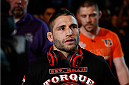 SACRAMENTO, CA - DECEMBER 14:  Chad Mendes walks to the Octagon to face Nik Lentz in their featherweight bout during the UFC on FOX event at Sleep Train Arena on December 14, 2013 in Sacramento, California. (Photo by Josh Hedges/Zuffa LLC/Zuffa LLC via Getty Images) *** Local Caption *** Chad Mendes