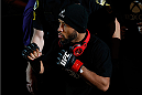 SACRAMENTO, CA - DECEMBER 14:  Demetrious Johnson walks to the Octagon to face Joseph Benavidez in their flyweight championship bout during the UFC on FOX event at Sleep Train Arena on December 14, 2013 in Sacramento, California. (Photo by Josh Hedges/Zuffa LLC/Zuffa LLC via Getty Images) *** Local Caption *** Demetrious Johnson