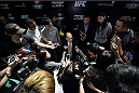 SINGAPORE - JANUARY 02:  Mark Fischer, managing director of UFC Asia, speaks to the media during the UFC Fight Night Singapore Ultimate Media Day at the Skating Rink at The Shoppes at Marina Bay Sand on January 2, 2014 in Singapore.  (Photo by Suhaimi Abdullah/Zuffa LLC)