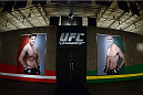 LACHUTE, CANADA - NOVEMBER 5:  A general view of the gym art prior to Team Australia fighter Zein Saliba taking on Team Canada fighter Elias Theodorou in their middleweight bout during filming of The Ultimate Fighter Nations television series on November 5, 2013 in Lachute, Quebec, Canada. (Photo by Richard Wolowicz/Zuffa LLC/Zuffa LLC via Getty Images) *** Local Caption ***