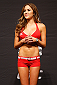 CHICAGO, IL - JANUARY 24:  UFC Octagon Girl Brittney Palmer stands on stage during the UFC weigh-in event at the Chicago Theatre on January 24, 2014 in Chicago, Illinois. (Photo by Josh Hedges/Zuffa LLC/Zuffa LLC via Getty Images)