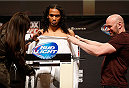 CHICAGO, IL - JANUARY 24:  Benson Henderson weighs in during the UFC weigh-in event at the Chicago Theatre on January 24, 2014 in Chicago, Illinois. (Photo by Josh Hedges/Zuffa LLC/Zuffa LLC via Getty Images)