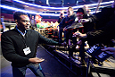 NEWARK, NJ - JANUARY 31:  UFC Light Heavyweight Champion Jon 'Bones' Jones interacts with the fans before the UFC 169 weigh-in event at the Prudential Center on January 31, 2014 in Newark, New Jersey. (Photo by Jeff Bottari/Zuffa LLC/Zuffa LLC via Getty Images)