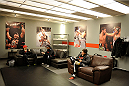 LACHUTE, CANADA - NOVEMBER 11:  A general view of Team Canada's locker room prior to Team Australia fighter Tyler Manawaroa facing Team Canada fighter Nordine Taleb in their middleweight fight during filming of The Ultimate Fighter Nations television series on November 11, 2013 in Lachute, Quebec, Canada. (Photo by Richard Wolowicz/Zuffa LLC/Zuffa LLC via Getty Images) *** Local Caption ***
