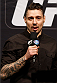 "LAS VEGAS, NV - FEBRUARY 21:  Former UFC welterweight title challenger Dan ""The Outlaw"" Hardy is introduced as the new European color commentator before the UFC 170 weigh-in event at the Mandalay Bay Events Center on February 21, 2014 in Las Vegas, Nevada. (Photo by Josh Hedges/Zuffa LLC/Zuffa LLC via Getty Images)"