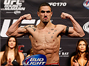 LAS VEGAS, NV - FEBRUARY 21:  Robert Whittaker weighs in during the UFC 170 weigh-in event at the Mandalay Bay Events Center on February 21, 2014 in Las Vegas, Nevada. (Photo by Josh Hedges/Zuffa LLC/Zuffa LLC via Getty Images)