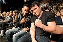 LAS VEGAS, NV - FEBRUARY 22:  (L-R) Actor Will Smith and UFC light heavyweight Chael Sonnen in attendance during UFC 170 inside the Mandalay Bay Events Center on February 22, 2014 in Las Vegas, Nevada. (Photo by Jeff Bottari/Zuffa LLC/Zuffa LLC via Getty Images) *** Local Caption *** Will Smith; Chael Sonnen