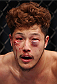 MACAU - MARCH 01:  Yui Chul Nam is bloodied in his fight with Kazuki Tokudome in their lightweight fight during the UFC Fight Night event at the Venetian Macau on March 1, 2014 in Macau. (Photo by Mitch Viquez/Zuffa LLC/Zuffa LLC via Getty Images)