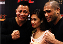 MACAU - MARCH 01:  Cung Le,left,  poses for a photo with fans before the start of the UFC Fight Night event at the Venetian Macau on March 1, 2014 in Macau. (Photo by Mitch Viquez/Zuffa LLC/Zuffa LLC via Getty Images)