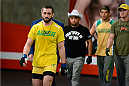 LACHUTE, CANADA - DECEMBER 2:  Team Australia fighter Vik Grujic walks into the gym before taking on Team Canada fighter Luke Harris in their middleweight fight during filming of The Ultimate Fighter Nations television series on December 2, 2013 in Lachute, Quebec, Canada. (Photo by Richard Wolowicz/Zuffa LLC/Zuffa LLC via Getty Images) *** Local Caption *** Vik Grujic