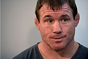 DALLAS, TX - MARCH 13:  Retired mixed martial artist Matt Hughes speaks with the media during the UFC 171 Ultimate Media Day at American Airlines Center on March 13, 2014 in Dallas, Texas. (Photo by Jeff Bottari/Zuffa LLC/Zuffa LLC via Getty Images)