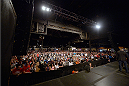 DALLAS, TX - MARCH 14:  A general view of the crowd during the UFC 171 weigh-in event at Gilley's Dallas on March 14, 2014 in Dallas, Texas. (Photo by Jeff Bottari/Zuffa LLC/Zuffa LLC via Getty Images)