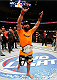 DALLAS, TX - MARCH 15:   Johny Hendricks reacts after defeating Robbie Lawler in their UFC welterweight championship bout at UFC 171 inside American Airlines Center on March 15, 2014 in Dallas, Texas. (Photo by Josh Hedges/Zuffa LLC/Zuffa LLC via Getty Images)