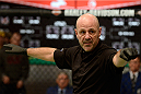 LACHUTE, CANADA - DECEMBER 9:  Referee Yves Lavigne signals the start of Team Canada fighter Sheldon Wescott taking on Team Australia fighter Vic Grujic in their semifinal middleweight fight during filming of The Ultimate Fighter Nations television series on December 9, 2013 in Lachute, Quebec, Canada. (Photo by Richard Wolowicz/Zuffa LLC/Zuffa LLC via Getty Images) *** Local Caption *** Yves Lavigne