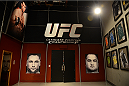 LAS VEGAS, NV - OCTOBER 16:  A general view of the TUF gym wall art during filming of season nineteen of The Ultimate Fighter on October 16, 2013 in Las Vegas, Nevada. (Photo by Al Powers/Zuffa LLC/Zuffa LLC via Getty Images) *** Local Caption ***