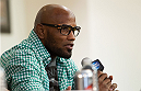 ORLANDO, FL - APRIL 17:  Yoel Romero interacts with media during the FOX UFC Saturday pre-fight press conference at Shaquille O'Neal's estate on April 17, 2014 in Orlando, Florida. (Photo by Mike Roach/Zuffa LLC/Zuffa LLC via Getty Images)