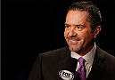 ORLANDO, FL - APRIL 19:  UFC play-by-play announcer Mike Goldberg speaks on camera during the FOX UFC Saturday event at the Amway Center on April 19, 2014 in Orlando, Florida. (Photo by Josh Hedges/Zuffa LLC/Zuffa LLC via Getty Images)