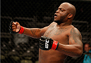 ORLANDO, FL - APRIL 19:  Derrick Lewis reacts after his TKO victory over Jack May in their heavyweight bout during the FOX UFC Saturday event at the Amway Center on April 19, 2014 in Orlando, Florida. (Photo by Josh Hedges/Zuffa LLC/Zuffa LLC via Getty Images)