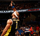 ORLANDO, FL - APRIL 19:  Yoel Romero reacts after defeating Brad Tavares in their middleweight bout during the FOX UFC Saturday event at the Amway Center on April 19, 2014 in Orlando, Florida. (Photo by Josh Hedges/Zuffa LLC/Zuffa LLC via Getty Images)