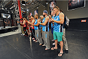 LAS VEGAS, NV - OCTOBER 24:  Team Edgar and Team Penn prepare for the upcoming fight selection during filming of season nineteen of The Ultimate Fighter on October 24, 2013 in Las Vegas, Nevada. (Photo by Jeff Bottari/Zuffa LLC/Zuffa LLC via Getty Images) *** Local Caption ***