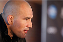 BALTIMORE, MD - APRIL 24:  Glover Teixeira interacts with media during the UFC 172 media day at Camden Yards on April 24, 2014 in Baltimore, Maryland. (Photo by Josh Hedges/Zuffa LLC/Zuffa LLC via Getty Images)