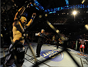 BALTIMORE, MD - APRIL 26:   Glover Teixeira is introduced before his light heavyweight championship bout against Jon