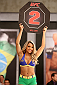 SAO PAULO, BRAZIL - FEBRUARY 6:  UFC Octagon Girl Candidate Fernanda Hernandes signals the start of round two between Team Wanderlei fighter Ismael De Jesus and Team Sonnen fighter Warlley Alves in their middleweight fight during season three of The Ultimate Fighter Brazil on February 6, 2014 in Sao Paulo, Brazil. (Photo by Luiz Pires Dias/Zuffa LLC/Zuffa LLC via Getty Images) *** Local Caption *** Fernanda Hernandes