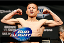 CINCINNATI, OH - MAY 09:  Kyoji Horiguchi weighs in during the UFC weigh-in at the U.S. Bank Arena on May 9, 2014 in Cincinnati, Ohio. (Photo by Josh Hedges/Zuffa LLC/Zuffa LLC via Getty Images)
