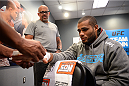 LAS VEGAS, NV - NOVEMBER 8:  Team Penn fighter Roger Zapata gets his hands wrapped before his bout against team Edgar fighter Joseph Stephens in their preliminary fight during filming of season nineteen of The Ultimate Fighter on November 8, 2013 in Las Vegas, Nevada. (Photo by Al Powers/Zuffa LLC/Zuffa LLC via Getty Images) *** Local Caption *** Roger Zapata
