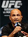 LAS VEGAS, NV - MAY 23:  Former UFC lightweight and welterweight champion B.J. Penn interacts with fans and media during the UFC press conference at the MGM Grand Garden Arena on May 23, 2014 in Las Vegas, Nevada.  (Photo by Josh Hedges/Zuffa LLC/Zuffa LLC via Getty Images)