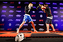 "SAO PAULO, BRAZIL - MAY 29:  Rony ""Jason"" Mariano-Bazzera holds an open training session for media at the Renaissance Hotel on May 29, 2014 in Sao Paulo, Brazil. (Photo by Josh Hedges/Zuffa LLC/Zuffa LLC via Getty Images)"