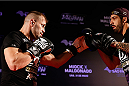 SAO PAULO, BRAZIL - MAY 29:  Fabio Maldonado holds an open training session for media at the Renaissance Hotel on May 29, 2014 in Sao Paulo, Brazil. (Photo by Josh Hedges/Zuffa LLC/Zuffa LLC via Getty Images)