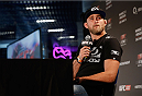 BERLIN, GERMANY - MAY 30:  Alexander Gustafsson answer questions of the media after the UFC weigh-in at O2 World on May 30, 2014 in Berlin, Germany.  (Photo by Boris Streubel/Zuffa LLC/Zuffa LLC via Getty Images)