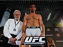 BERLIN, GERMANY - MAY 30:  Gegard Mousasi steps on the scale during the UFC weigh-in at O2 World on May 30, 2014 in Berlin, Germany.  (Photo by Boris Streubel/Zuffa LLC/Zuffa LLC via Getty Images)