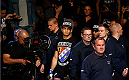 BERLIN, GERMANY - MAY 31:  Gegard Mousasi enters the octagon for the Gegard Mousasi vs. Mark Munoz match at UFC Fight Night Berlin event at O2 World on May 31, 2014 in Berlin, Germany. (Photo by Boris Streubel/Zuffa LLC/Zuffa LLC via Getty Images)