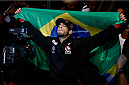 SAO PAULO, BRAZIL - MAY 31: Elias Silverio enters the arena before his lightweight fight against Ernest Chavez during the UFC Fight Night event at the Ginasio do Ibirapuera on May 31, 2014 in Sao Paulo, Brazil. (Photo by Josh Hedges/Zuffa LLC/Zuffa LLC via Getty Images)