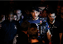SAO PAULO, BRAZIL - MAY 31: Stipe Miocic enters the arena before his heavyweight fight against Fabio Maldonado during the UFC Fight Night event at the Ginasio do Ibirapuera on May 31, 2014 in Sao Paulo, Brazil. (Photo by Josh Hedges/Zuffa LLC/Zuffa LLC via Getty Images)