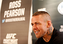 ALBUQUERQUE, NM - JUNE 05:  Ross Pearson interacts with media during the UFC Ultimate Media day at EXPO New Mexico on June 5, 2014 in Albuquerque, New Mexico. (Photo by Josh Hedges/Zuffa LLC/Zuffa LLC via Getty Images)